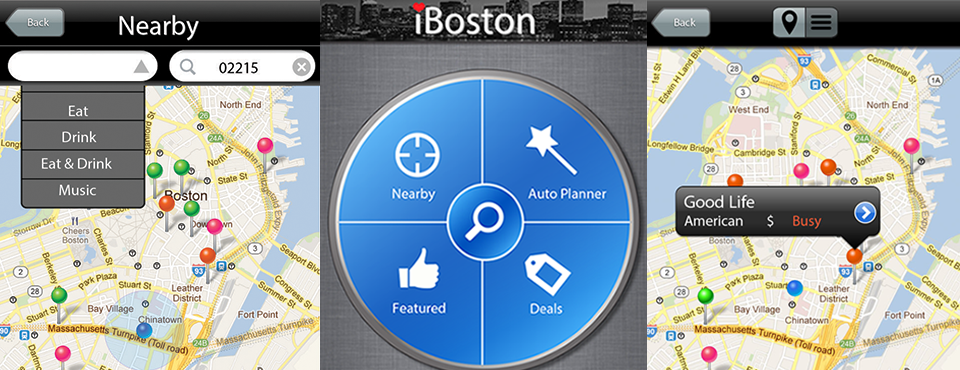 iBoston - a nightlife app prototype